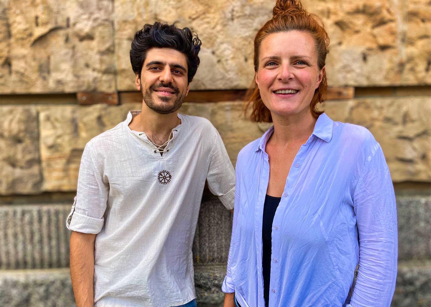 Sarah Heberle und Dara Taher Ali